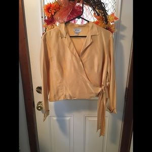 Lord & Taylor Tie-Up Blouse
